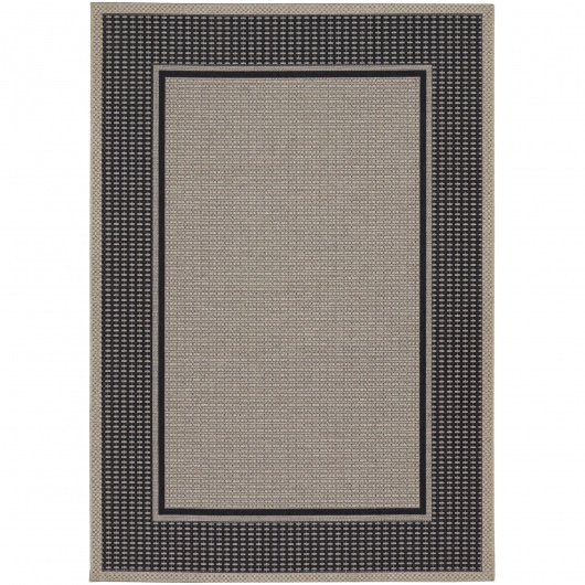 Tides Astoria Black/Grey Outdoor Rug
