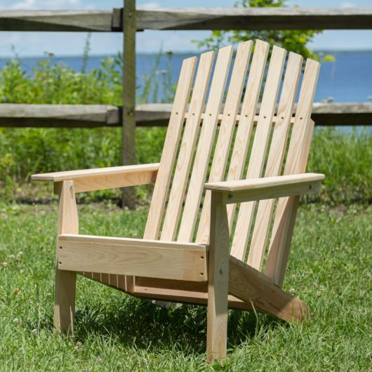 Hometown Exclusive Cypress Folding Rustic Adirondack Chair