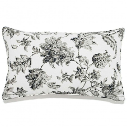 12in x 20in Charcoal Liz Outdoor Pillow