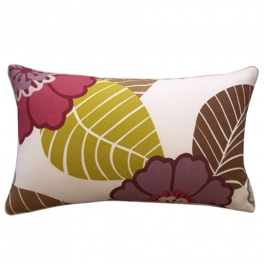 12in x 20in Dahlia Berry Outdoor Pillow