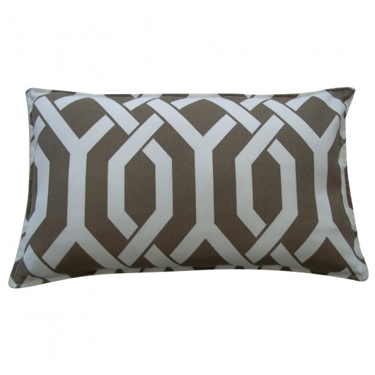 12in x 20in Brown Fork Outdoor Pillow