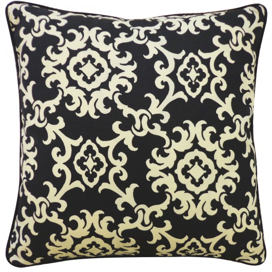 20in x 20in Alvin Black Outdoor Pillow