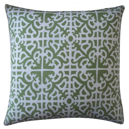 20in x 20in Green Malibu Outdoor Pillow