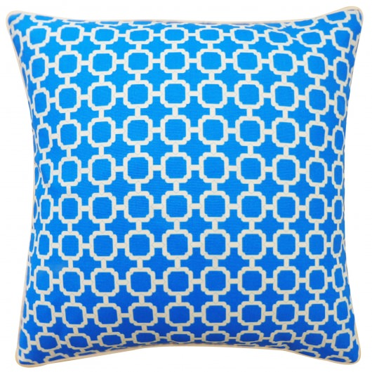 20in x 20in Blue Blocks Outdoor Pillow