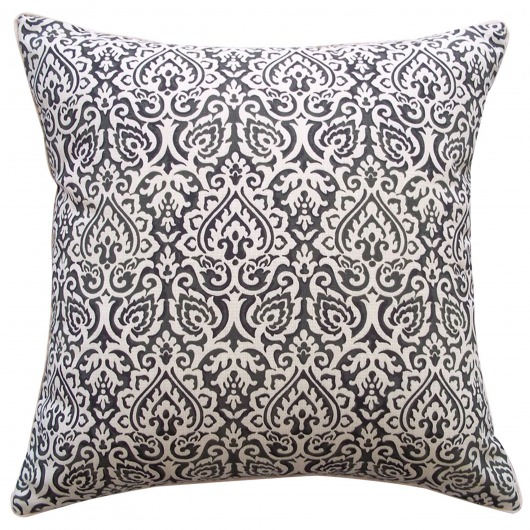 20in x 20in Black Jaipur Outdoor Pillow