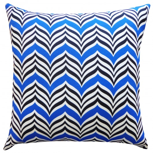 20in x 20in Blue Mosque Outdoor Throw Pillow
