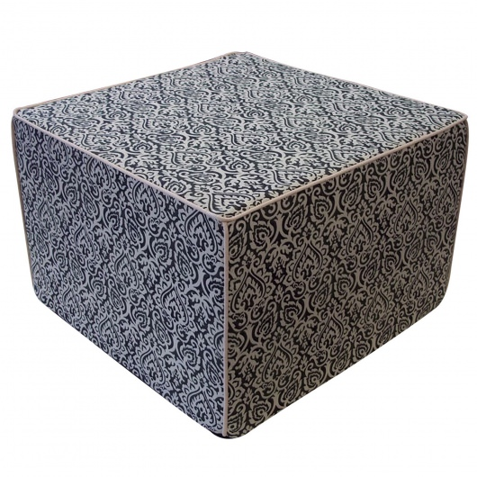 Jaipur Black Outdoor Ottoman