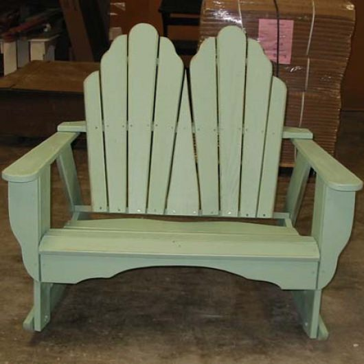 Fanback Collection Adirondack Dbl Rocker - Pine -