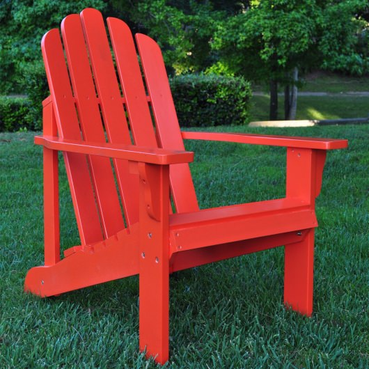 Cedarwood Marina Adirondack Chair - Cherry Tomato