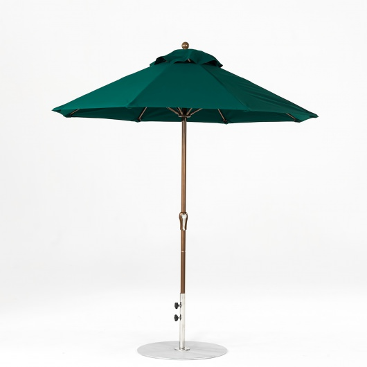 7.5 Ft. Crank Lift Fiberglass Market Umbrella with Bronze Pole