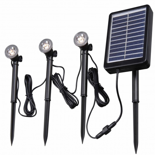 Kenroy 3-LED Light String for Solar Deck, Dock and Path Light