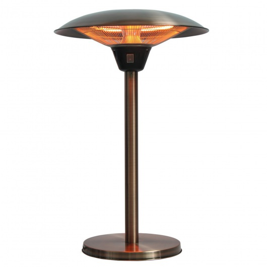 Cimarron Brushed Copper Table Top Halogen Patio Heater