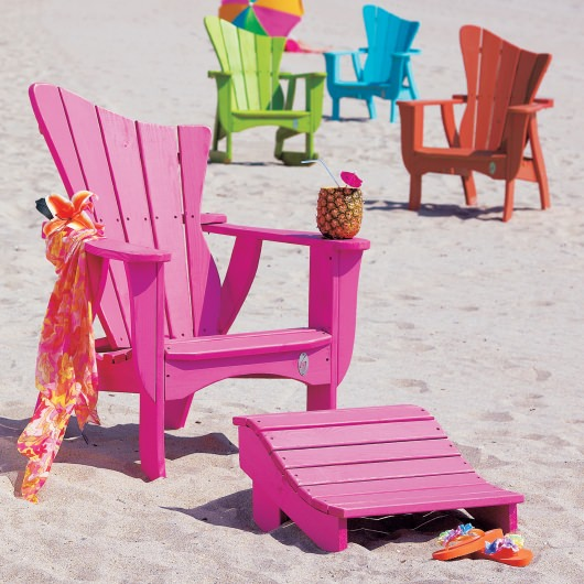 The Wave Collection Adirondack Chair - Pine -