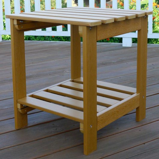 Square Cedar Side Table