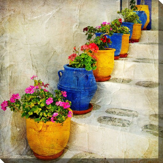 Bright Pots Outdoor Wall Art
