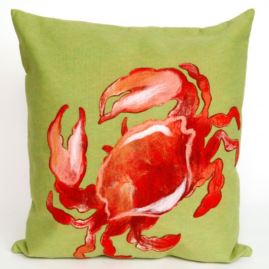 Crab Red Outdoor Pillow