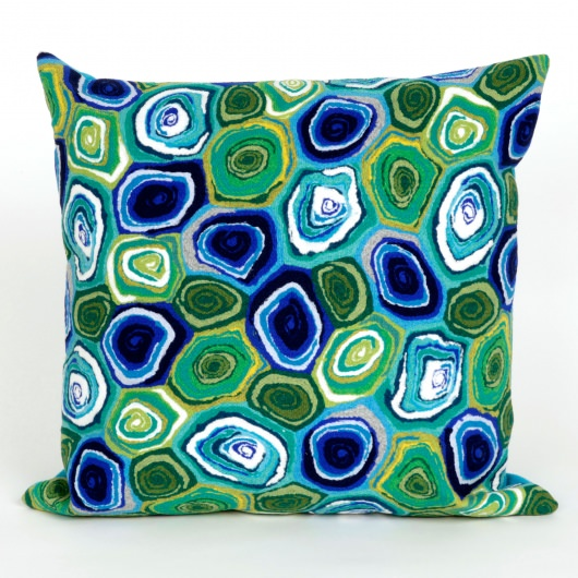 Murano Swirl Caribbean Outdoor Pillow