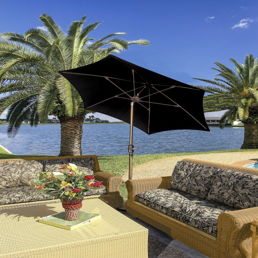 7.5 Ft. Tilt Terrace Umbrella with Bronze Pole