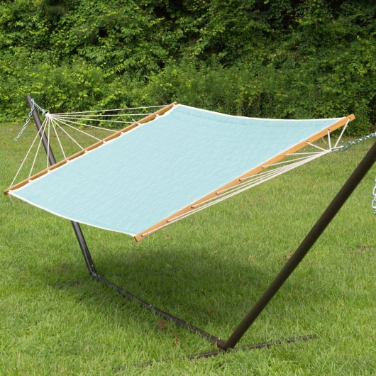 Large 2 Person Soft Polyester Quilted Hammock - Agean Stripe
