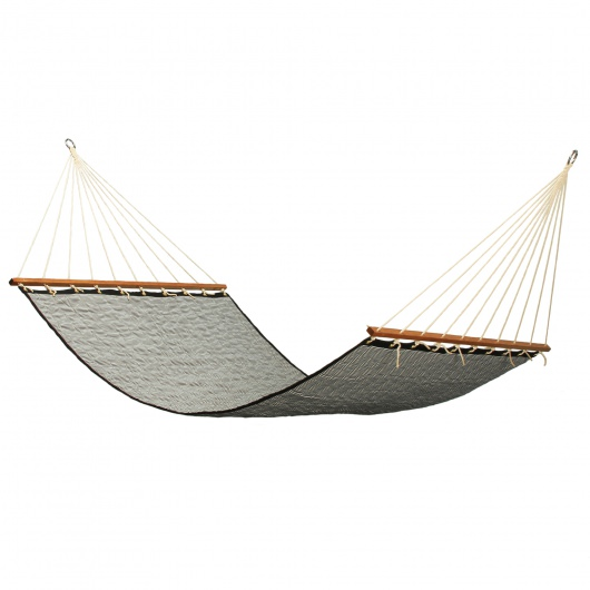 Large 2 Person Soft Polyester Quilted Hammock - Navy Stripe