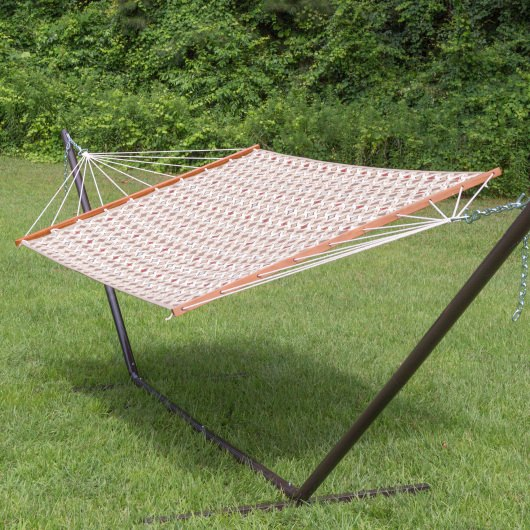 Large 2 Person Sunbrella Quilted Hammock - Tango Mink