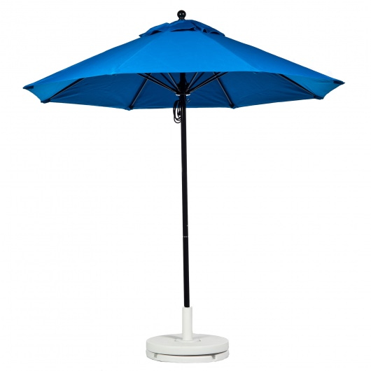 7.5 Ft. Pulley Fiberglass Market Umbrella with Black  Pole
