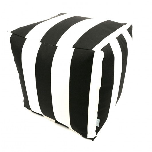 Black Vertical Stripe Small Outdoor Cube