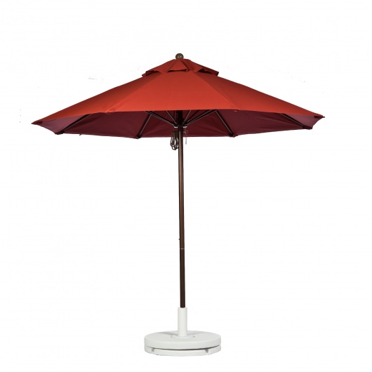 11 Ft. Pulley Fiberglass Market Umbrella with Bronze Color Pole