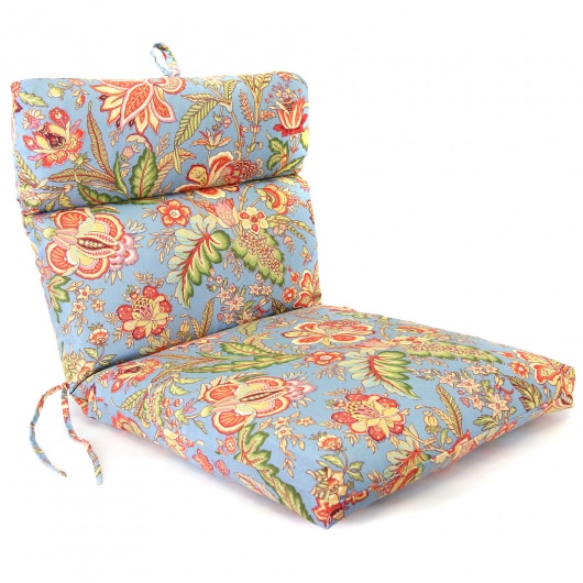 Joya Blue Jay French Edge Club Chair Cushion