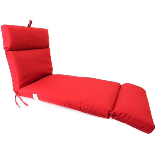 Pompei Red Chaise Lounge Cushion