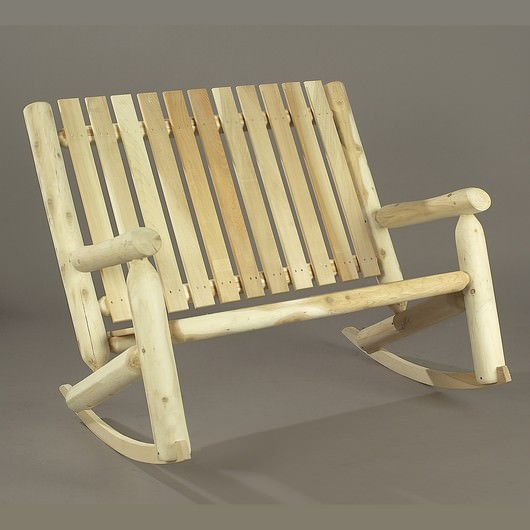 Cedar Adirondack Double High Back Rocker