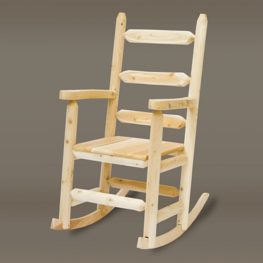 Cedar Adirondack Ladder Back Rocker