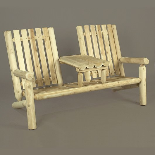 Cedar Adirondack Garden Tea Double Chair