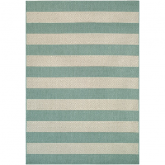 Afuera Yacht Club Sea Mist/Ivory Outdoor Rug