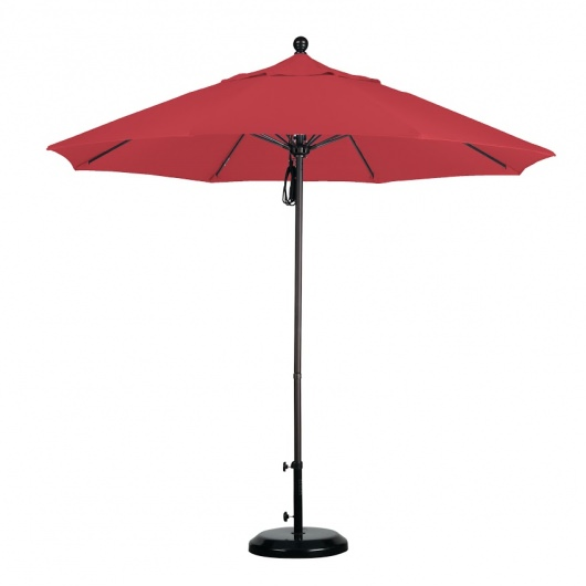 9ft Fiberglass Umbrella Pulley in Olefin Fabric