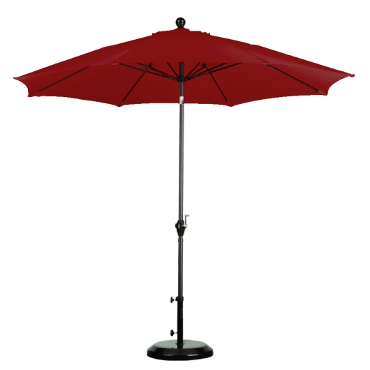 9 ft Fiber Market Umbrella with Bronze Pole-Available in 10 Colors