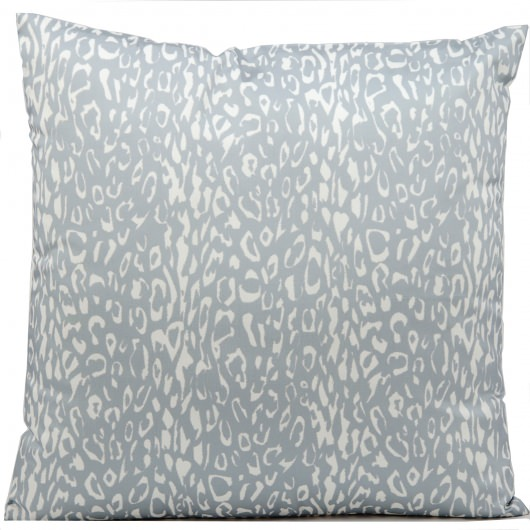 Mina Victory Leopard Print Grey Outdoor Pillow