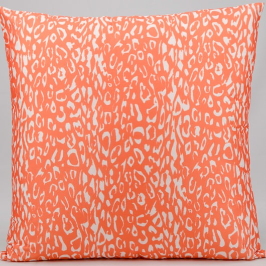 Mina Victory Leopard Print Orange Outdoor Pillow