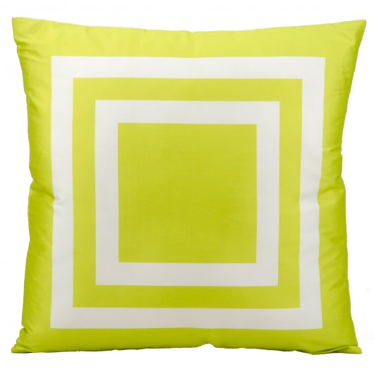 Mina Victory Squares Green Outdoor Pillow