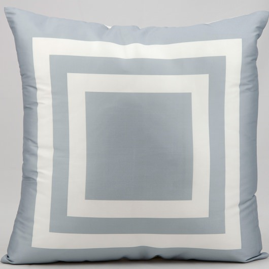 Mina Victory Squares Grey Outdoor Pillow