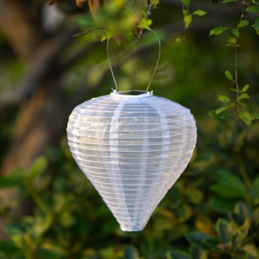 Soji Teardrop Pearl Solar Outdoor LED Lantern