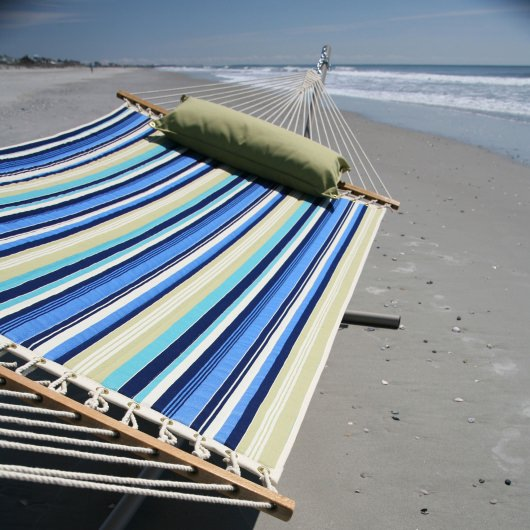 Beaches Stripe Large Quilted Fabric Hammock