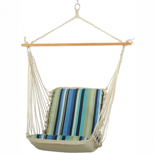 Single Cushioned Swing - Beaches Stripe