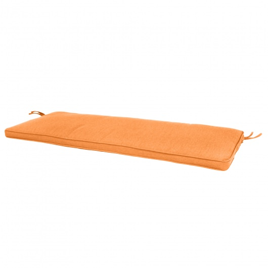 56in Sunbrella Bench Cushion Box Edge More Colors Orange