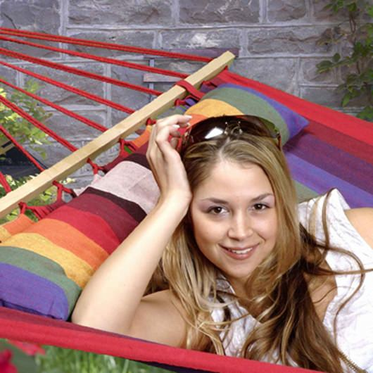 Oversized Hammock with Spreader Bars - Tequila Sunrise