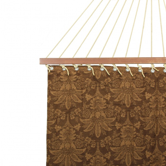 Large 2 Person Soft Polyester Quilted Hammock - Victorian Brown