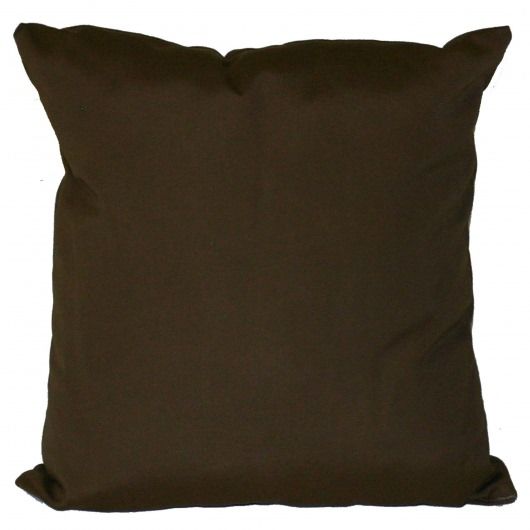 Bay Brown Sunbrella Outdoor Throw Pillow