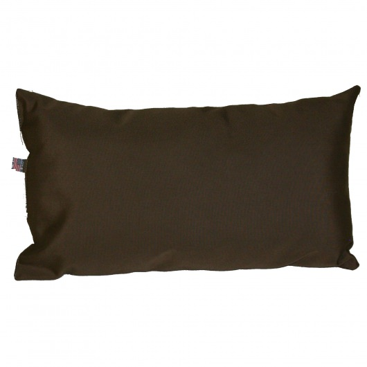 Bay Brown Sunbrella Outdoor Throw Pillow 19 in. x 10 in. Rectangle
