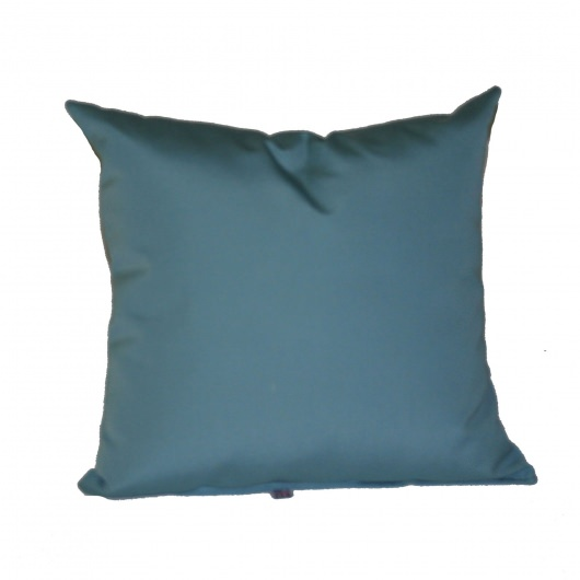 Mineral Blue Sunbrella Outdoor Throw Pillow 16 in. x 16 in. Square