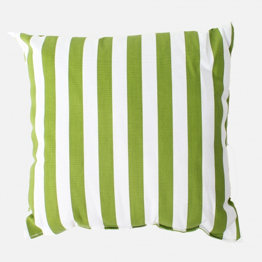 Macaw Green Stripe Outdoor Throw Pillow
